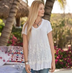 SUNDANCE Laurentide Embroidered Tunic Top